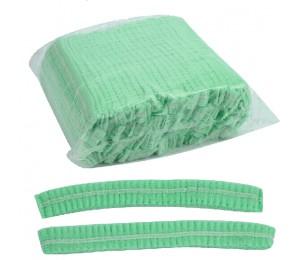 Kepurė vienkartinė suraukta žalia 53 cm (100 vnt.)