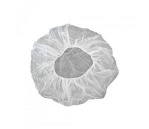 Kepurė vienkartinė beretė balta 58 cm (100 vnt.)