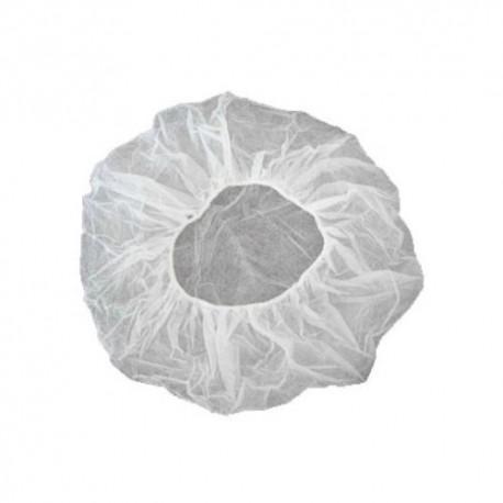 Kepurė vienkartinė beretė balta 53 cm (100 vnt.)