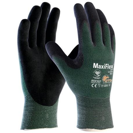 Pirštinės aplietos nitrilo mikroputomis CUT MaxiFlex