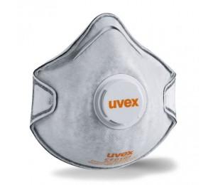 Respiratorius FFP2 su vožtuvu ir anglies sluoksniu Silv-air C2220 UVEX 8732220