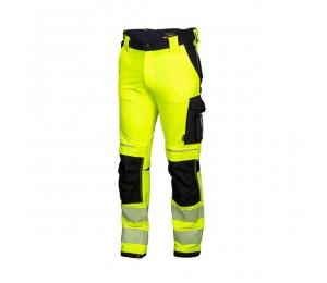 Kelnės HI-VIS geltonos STRETCH REWELLY